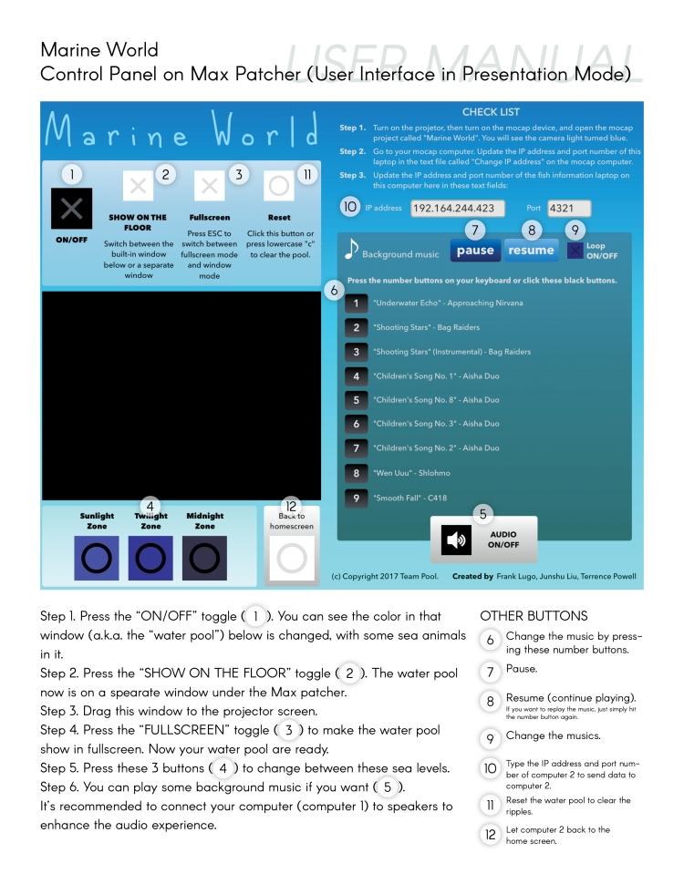 Marine World Control Panel UI - User Manual